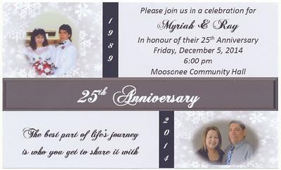 Myriah and Ray's 25th anniversary