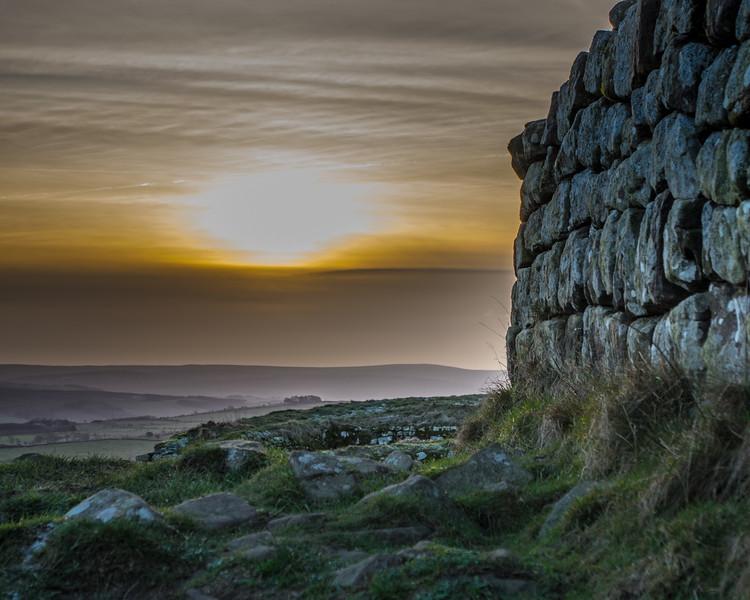 Sunset at Hadrians Wall