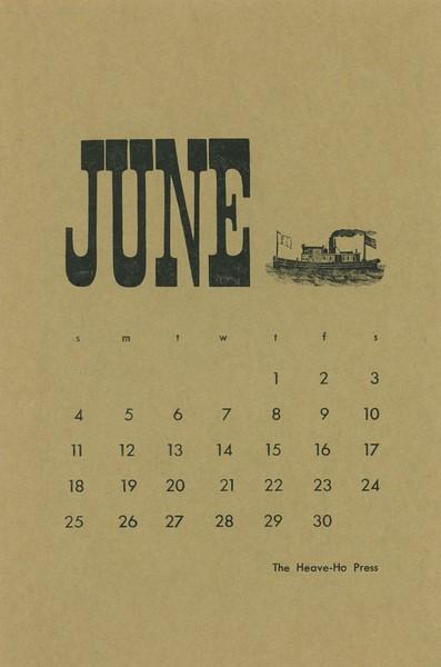 June, 1972, Heave-Ho Press