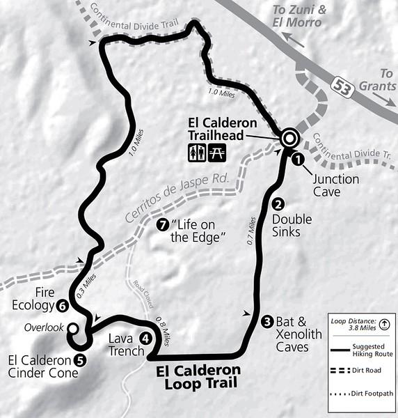 El Malpais National Monument (El Calderon Area Trail Map)