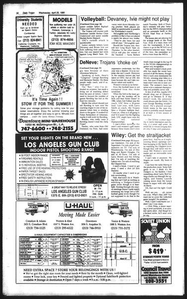 Daily Trojan, Vol. 111, No. 66, April 25, 1990