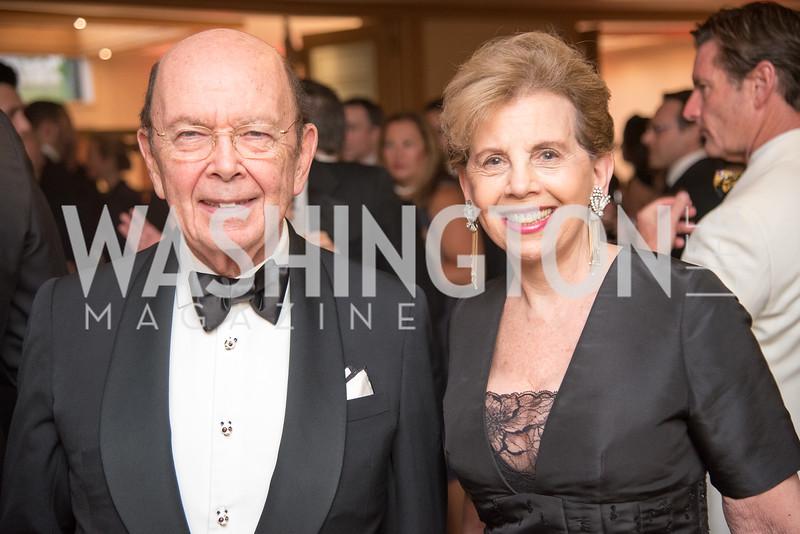 Secretary Wilbur Ross, Adrienne Arsht,  Harvard Business School, Leadership Gala, DC, The Four Seasons, June 13, 2018.  Photo by Ben Droz.