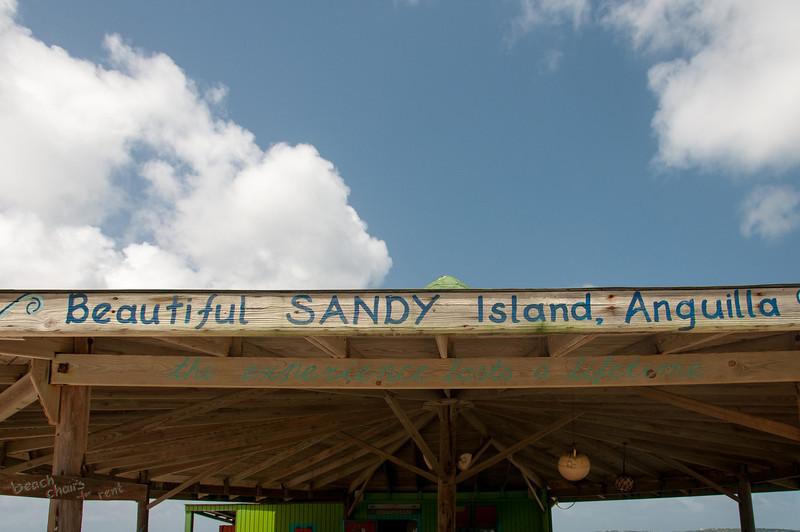 White sand beach in the island of Anguilla