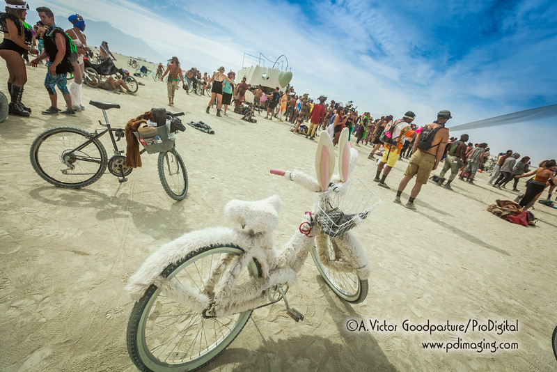 Bicycles are how burners get around the playa and Black Rock City.