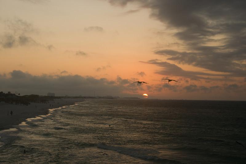 Sunrise off the Okaloosa Island fishing pier, Florida