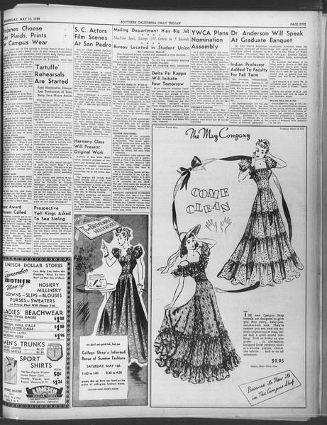 Daily Trojan, Vol. 30, No. 133, May 10, 1939