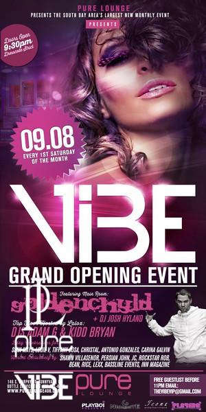 VIBE Grand Opening @ PURE Lounge 9.8.12