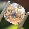 4.03ct Light Fancy Brown Antique Cushion Cut Diamond Halo Ring GIA LFB, SI1 4