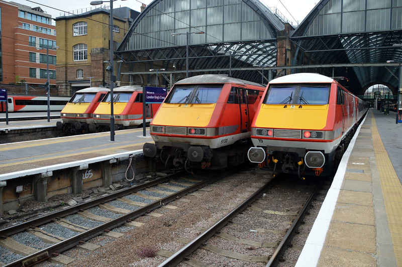 L-R 91109, 91131, 91130 & 91119  Kings Cross.