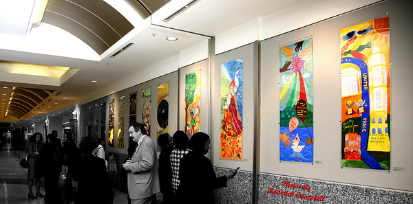 The Colorful Arts Society & People to People Inter. Art Exhibit ATL Airport