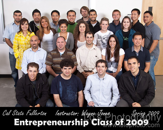 CSUF Entrepreneurship Class Photo - Spring 2009