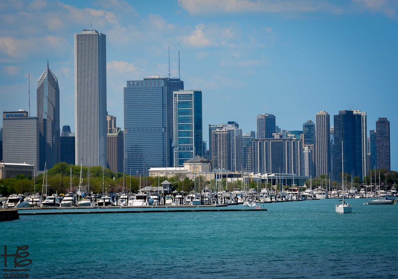 05-18-14 View of Chicago walking back along the shoreline from McCormick Place.