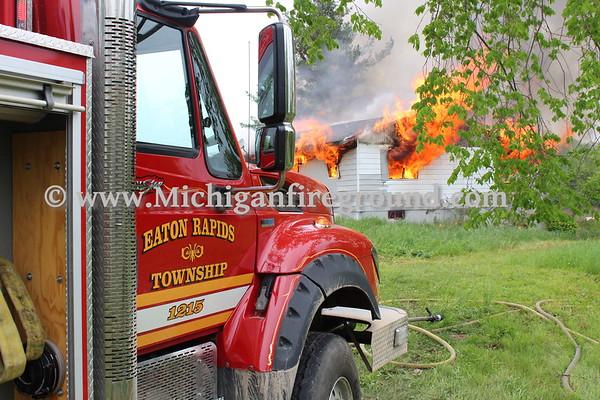 5/19/18 - Eaton Rapids Twp training burn, 6100 block of Bell Hwy