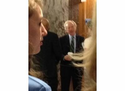 Creeeeeeping on Joe Lieberman in the tunnels underneath the Capitol