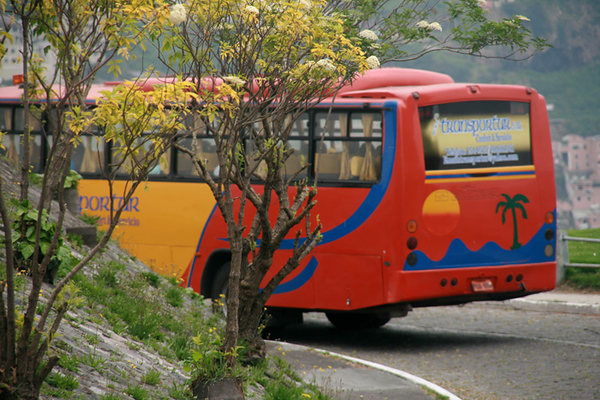 Colorful public transport
