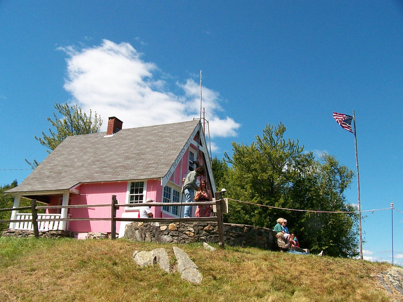 """This is the Pink Stellafane Club house. Like the song..""""Little pink houses for me and you."""""""