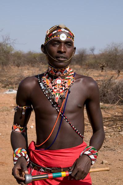 Dowdy, our main Samburu Warrior guide at Sasaab