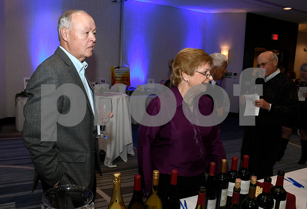 3/10/2018 Mike Orazzi | Staff John and Sandy Leone during the Bristol Hospital Development Foundation's Festival of Wines & Spirits held at the DoubleTree by Hilton in Bristol Saturday night. All proceeds from the event help fund the upcoming renovations of the Bristol Hospital Emergency Center.
