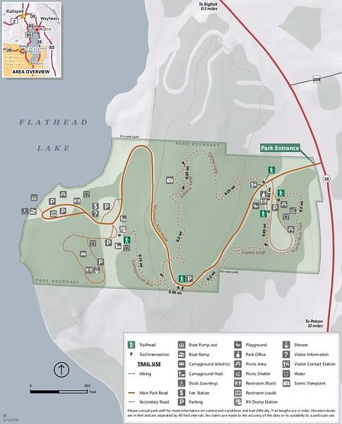 Wayfarers-Flathead Lake State Park (Trail Map)