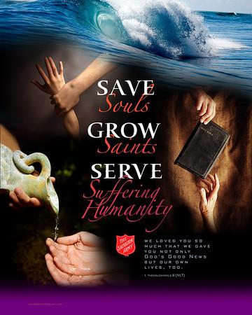 SAVE Souls, GROW Saints, SERVE Suffering Humanity