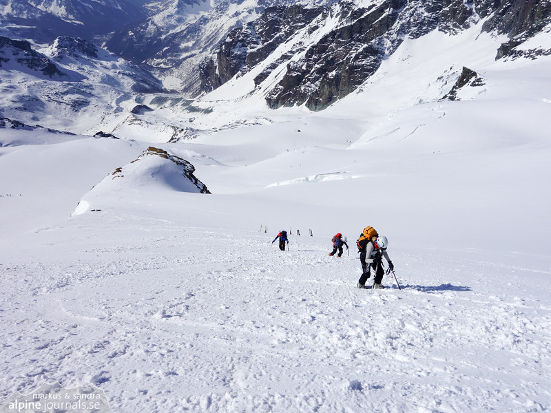 Beginning ascent of Roccia Nera
