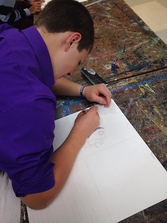 Eighth and ninth-grade murals