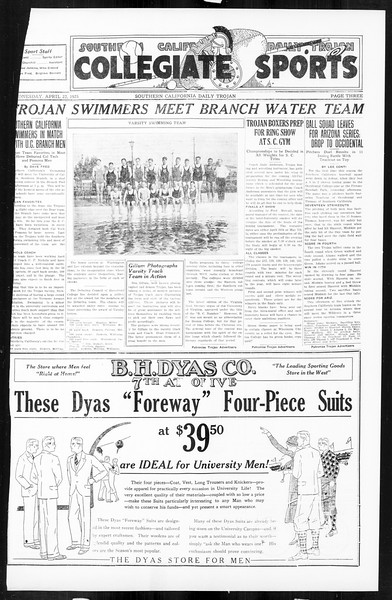 Daily Trojan, Vol. 16, No. 89, April 22, 1925