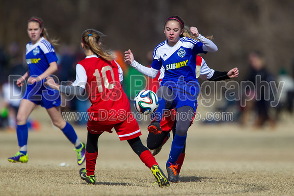U14 TCYSA Lady Twins White G vs SCAA Gold G 1/26/2014