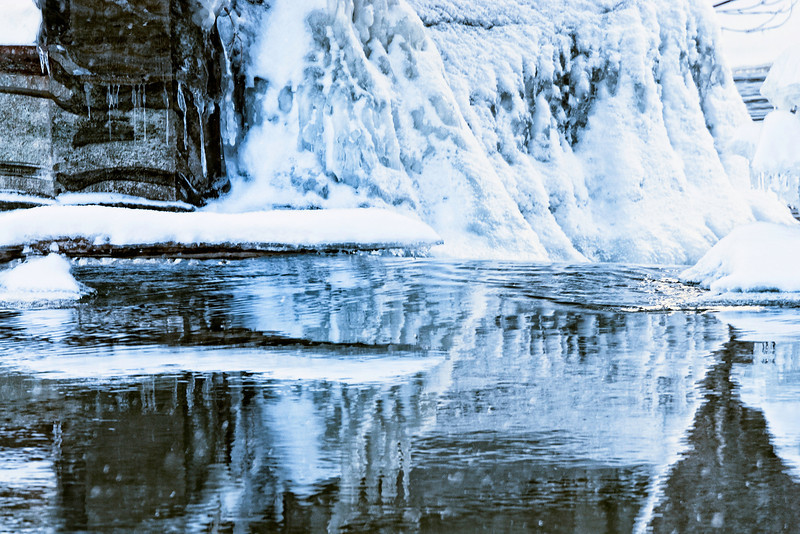 Winter brings its magic and it makes this creek reflects nice patterns. Have a great day! JY