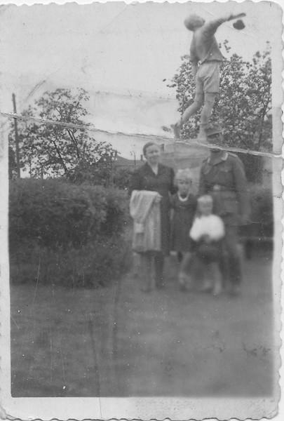 Rosalia Steinke (Todositchuk), Lydia, Alex and Bruno - 1943 - Ukraine