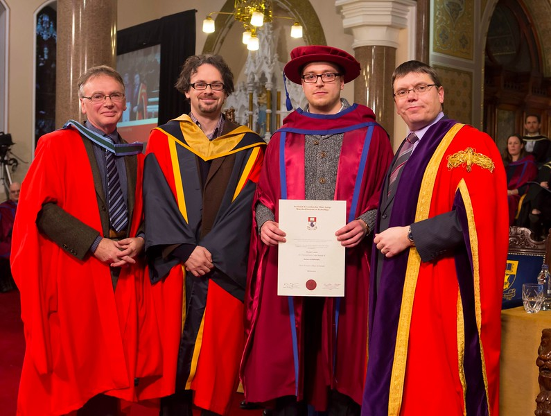 Waterford Institute Of Technology Conferring. Pictured at WIT Waterford Institute Of Technology Conferring is Stepan Ivanov, Russia-Waterford, who was conferred a Doctor of Philosophy by Dr. Ruaidhrí Neavyn, President WIT. Picture: Patrick Browne