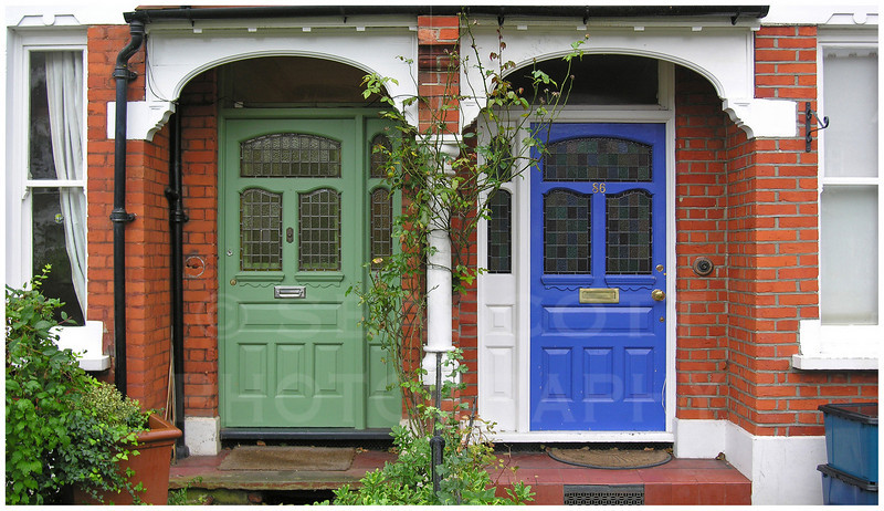 Row house doors.   London, England.