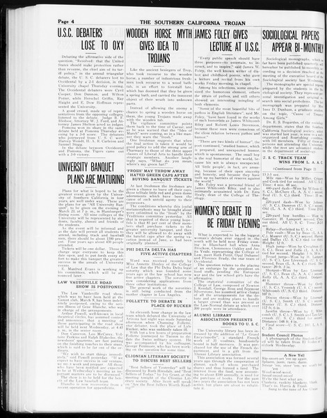 The Southern California Trojan, Vol. 8, No. 76, March 06, 1917