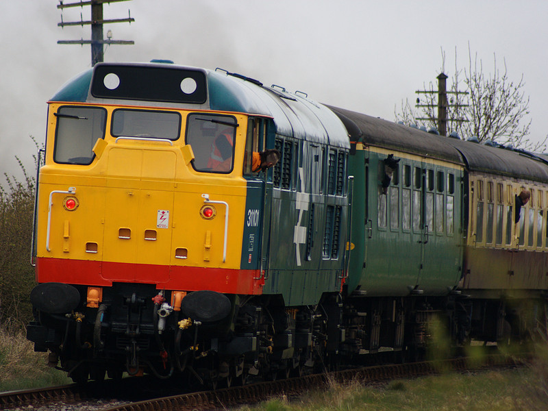 31101 brings up the rear of a Shackerstone bound working as it approaches it's destination on the 19th April 2008