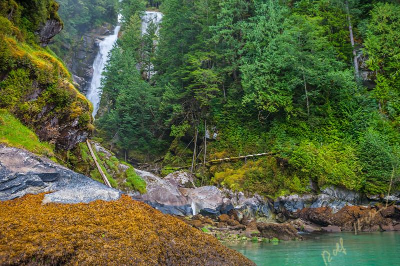 Millard Creek waterfall, Knight Inlet, British Columbia, Canada