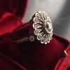 .85ctw Old European Cut Floral Motif Ring 4
