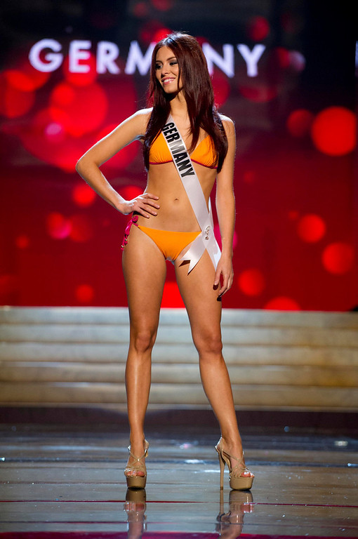 . Miss Germany 2012 Alicia Endemann competes during the Swimsuit Competition of the 2012 Miss Universe Presentation Show at PH Live in Las Vegas, Nevada December 13, 2012. The Miss Universe 2012 pageant will be held on December 19 at the Planet Hollywood Resort and Casino in Las Vegas. REUTERS/Darren Decker/Miss Universe Organization L.P/Handout