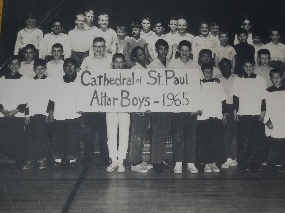 "Description of . From TEEJ IN STP: ""For my dad, an admirable man who was an altar boy back in the unforgotten year of '65. He's the handsome fellow with glasses, third row center. I love you, Padre, and never forget that!"""