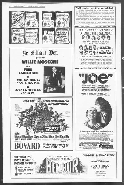 Daily Trojan, Vol. 62, No. 23, October 23, 1970