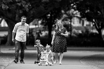 Kim's family shoot at Hyde Park
