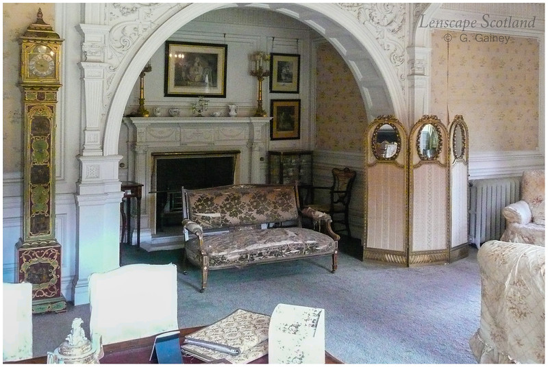 Kinloch Castle interior - Lady Monica's drawing room