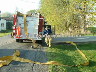 5/7/05 - Delhi Twp combustible metals fire, 1489 N. Cedar