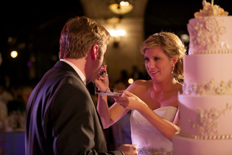 Le Cape Weddings - Chicago Cultural Center Weddings - Kaylin and John - 024 Cutting the Cake 29