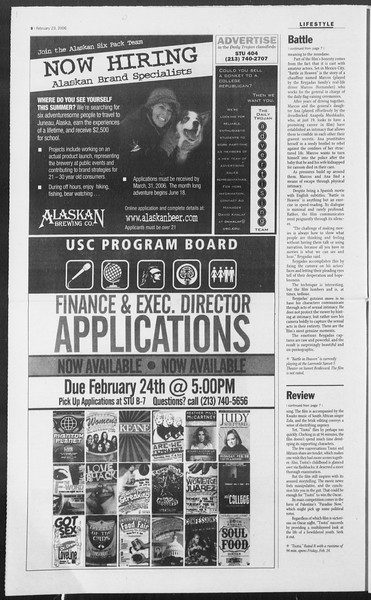 Daily Trojan, Vol. 157, No. 29, February 23, 2006