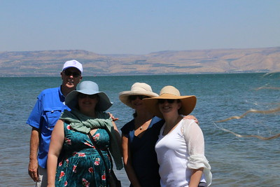 2018-06-23 Holy Land Day 05 - Golan Heights Banias Springs, Mt. of Beatitudes, Church of Primacy of Peter, Tabgha, Capernaum, Boat Ride