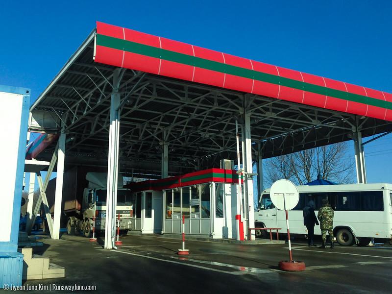 Moldova-Transnistria border at Bendor