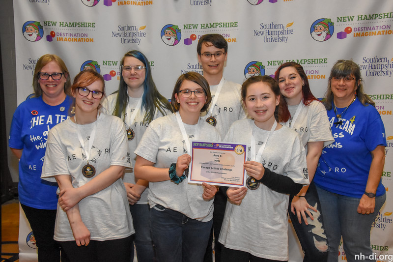 3rd place. 130-04818 ,KHS, Aero 6, Keene, NH, Service Learning Challenge- Escape Artists, Secondary Level