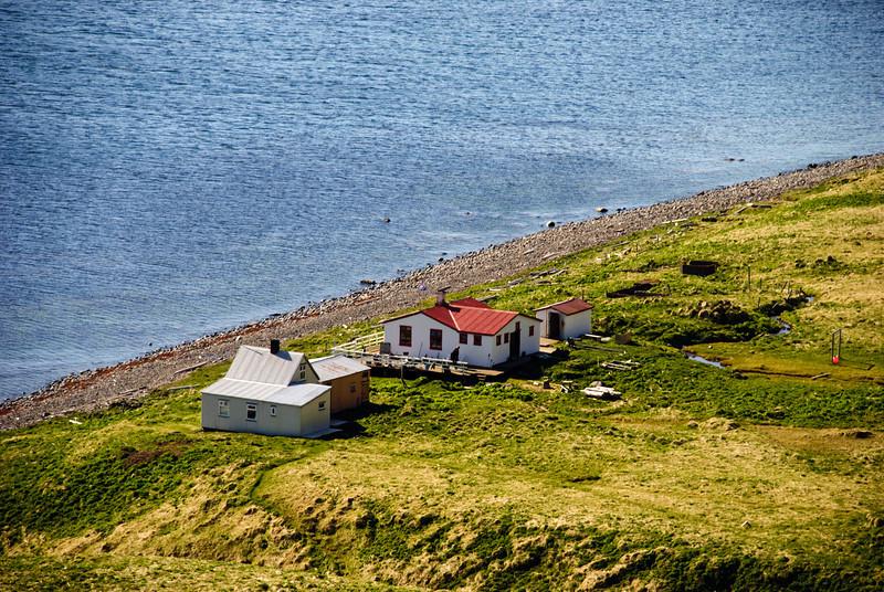 Horn í Hornvík. Frímannshús, Stígsshús og gufubaðið - Hagerup hjáleiga