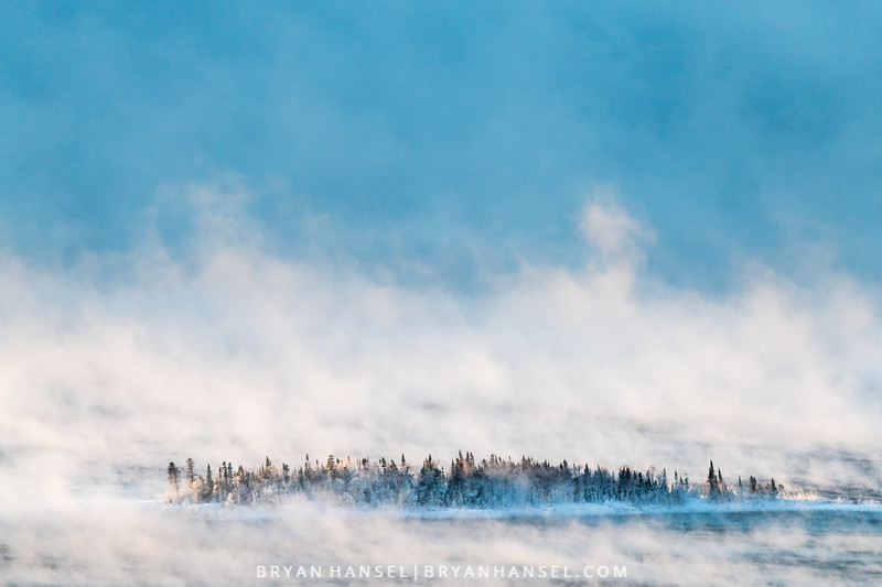 Sea Smoke Enfolds Artist's Point