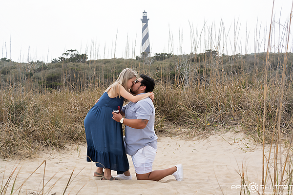 Brian and Amy, Proposal at the Cape Hatteras Lighthouse